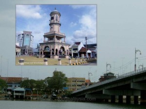 Muar third clock tower