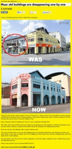 Muar old buildings are disappearing one by one