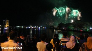 Fireworks Display during the Birthday of Johor Sultan