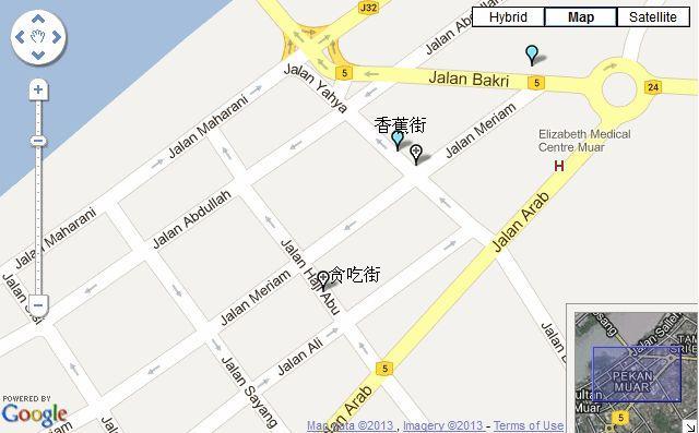 Muar Street Map Jalan Yahya Jalan Haji Abu