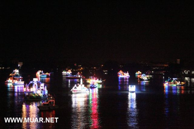 Muar river boat procession 2012