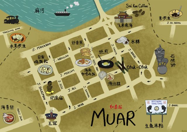 map-muar-food