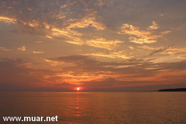 tanjung Mas sunset view