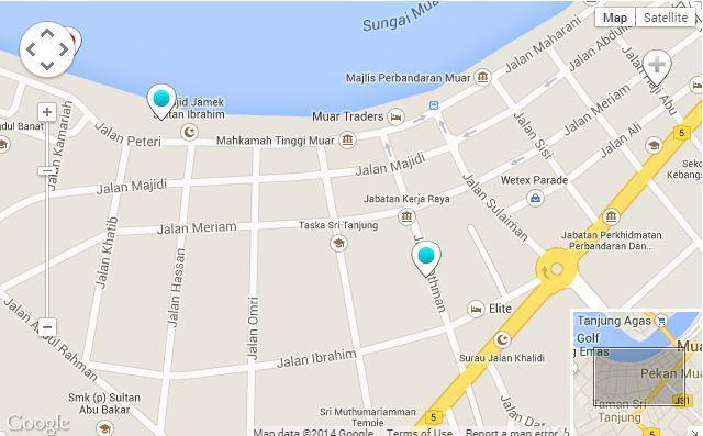 jalan meriam @ map